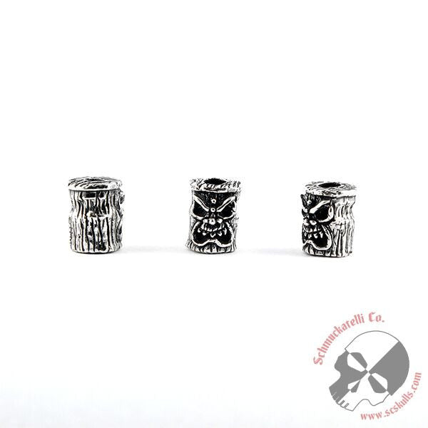 Ona Tiki Bead - Solid Sterling Silver