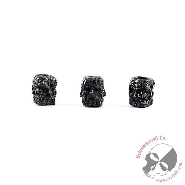 Green Man Bead - Black Titanium