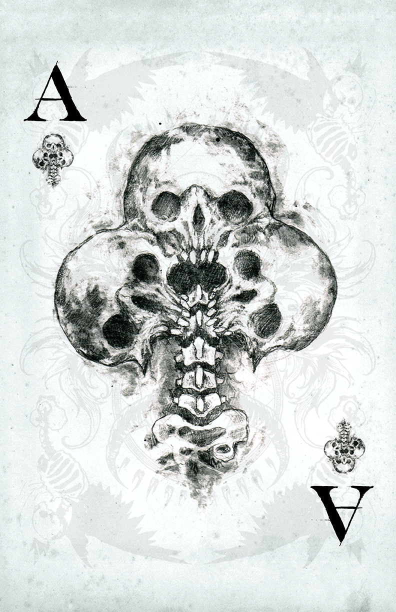 any means necessary shawn coss mors vincit omnia playing deck cards ace