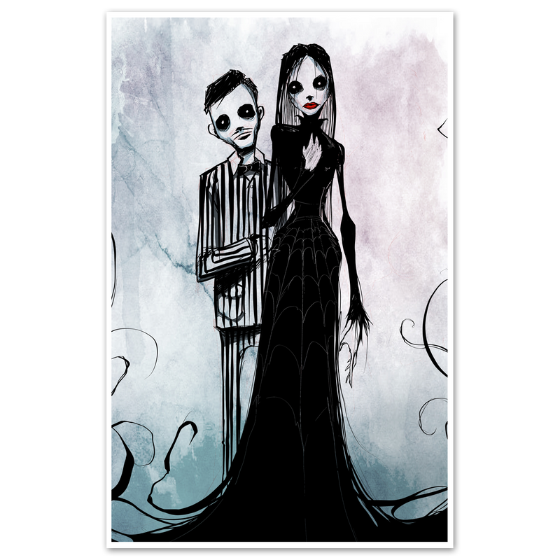 any means necessary shawn coss addams family 11x17 print poster