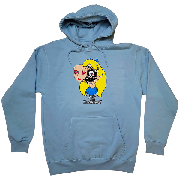 any means necessary shawn coss story time terrors alice in wonderland alice d lsd pullover hoodie blue mist