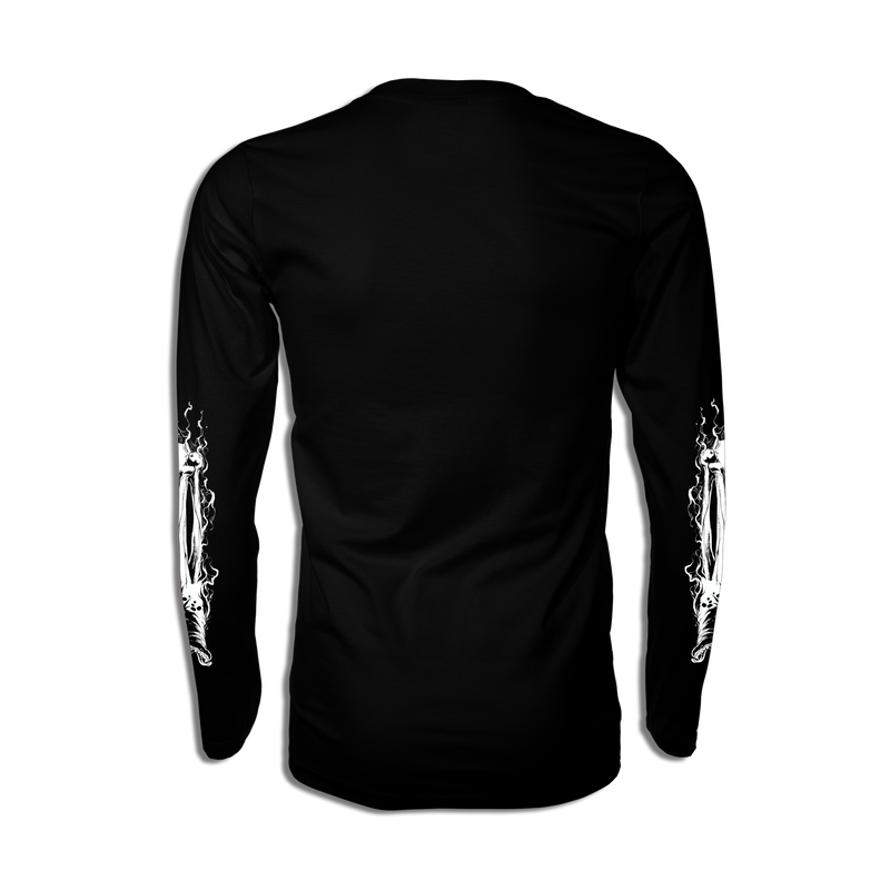 Black Metal Black Long Sleeve T- Shirt