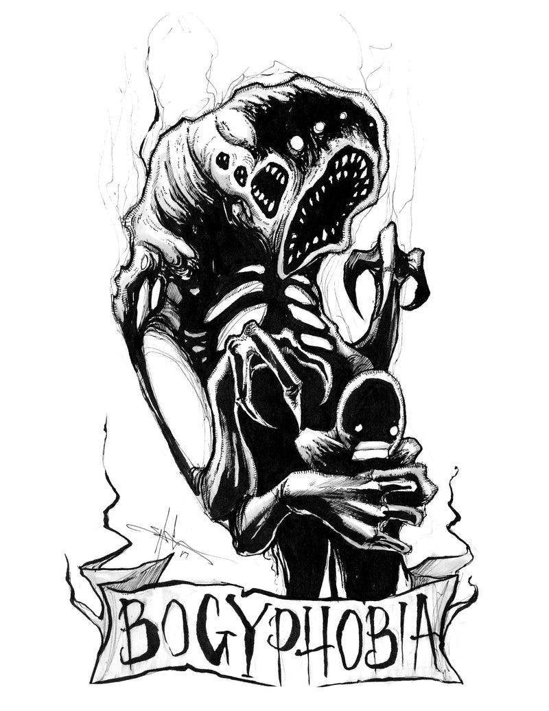 any means necessary feartober inktober poster print bogyphobia