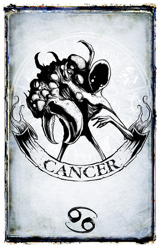 any means necessary zodiac sign poster print cancer