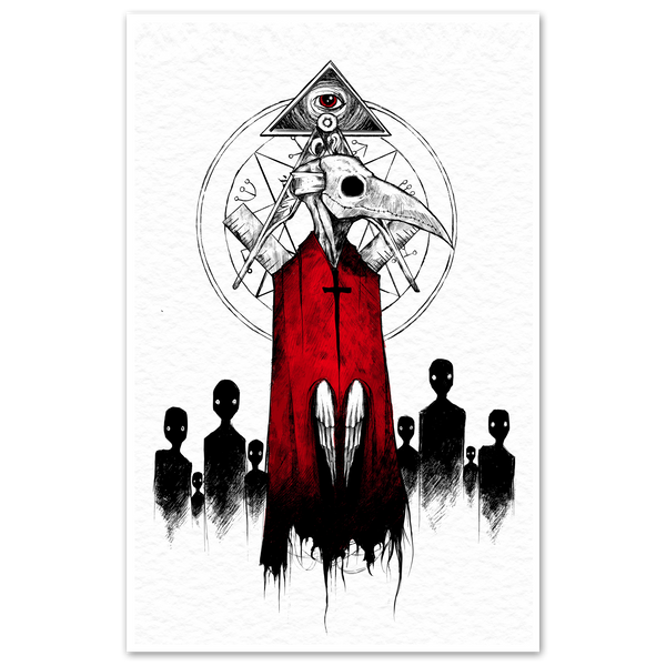 any means necessary shawn coss cult doctor plague mask 11x17 print poster