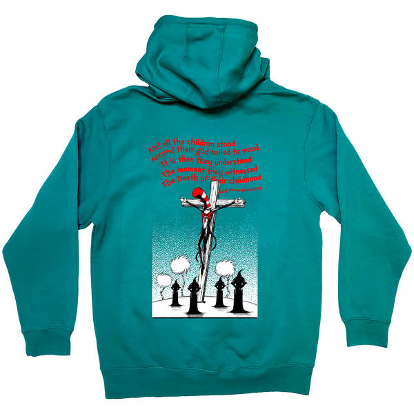 any means necessary shawn coss story time terrors death of childhood dr  seuss pullover hoodie teal