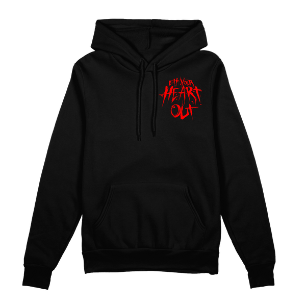 any means necessary shawn coss eat your heart out eyho pullover black hoodie black front