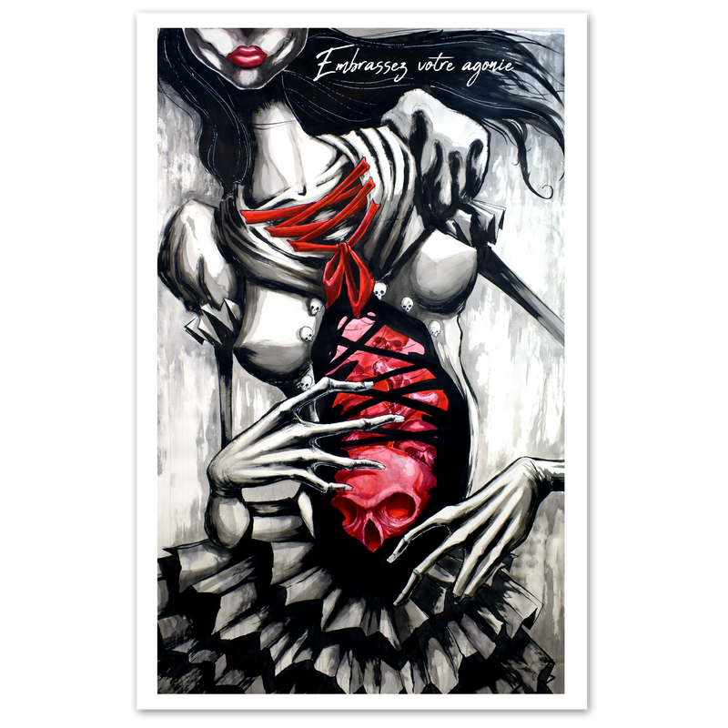any means necessary embrace your agony poster print