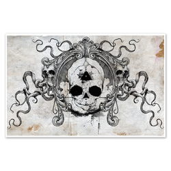 any means necessary feal skull poster print