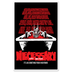 any means necessary shawn coss freddy krueger never sleep again nightmare on elm street poster print 11x17