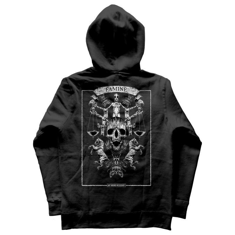 any means necessary shawn coss 4 horsemen of the apocalypse famine pullover hoodie black