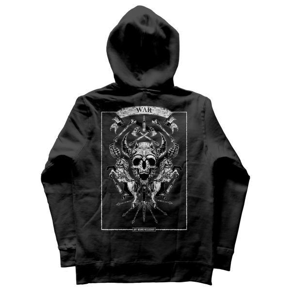 any means necessary shawn coss 4 horseman of the apocalypse war pullover hoodie black