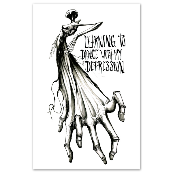 any means necessary shawn coss learning to dance with my depression 11x17 poster print