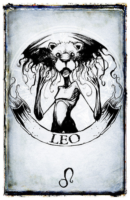 any means necessary zodiac sign poster print leo