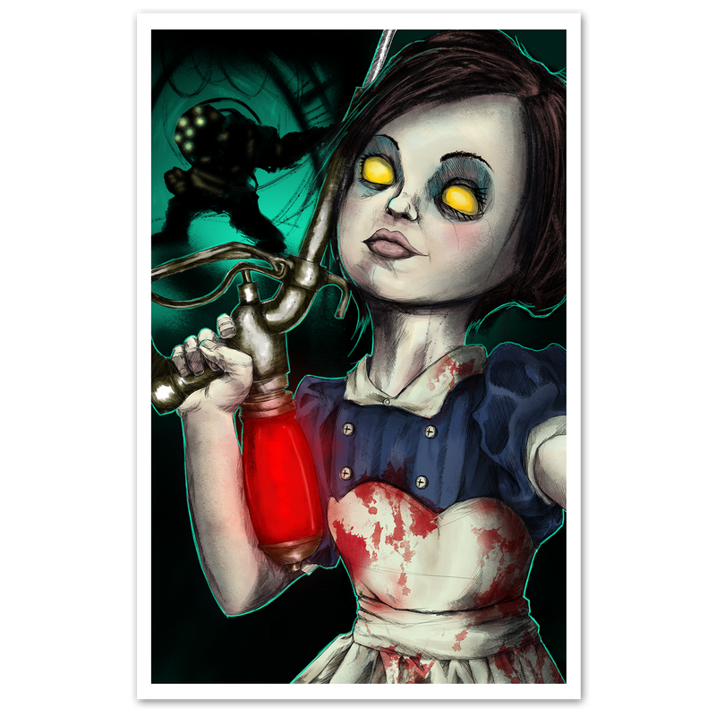 any means necessary little sister bioshock poster print