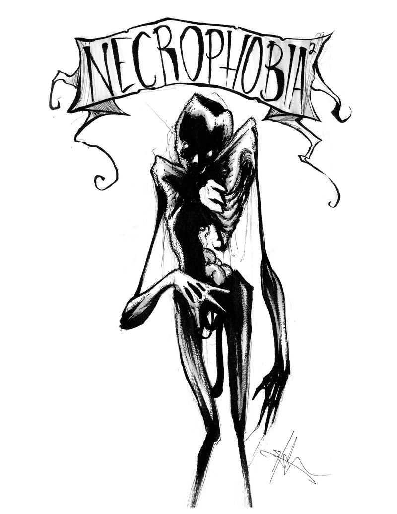 any means necessary feartober inktober poster print necrophobia