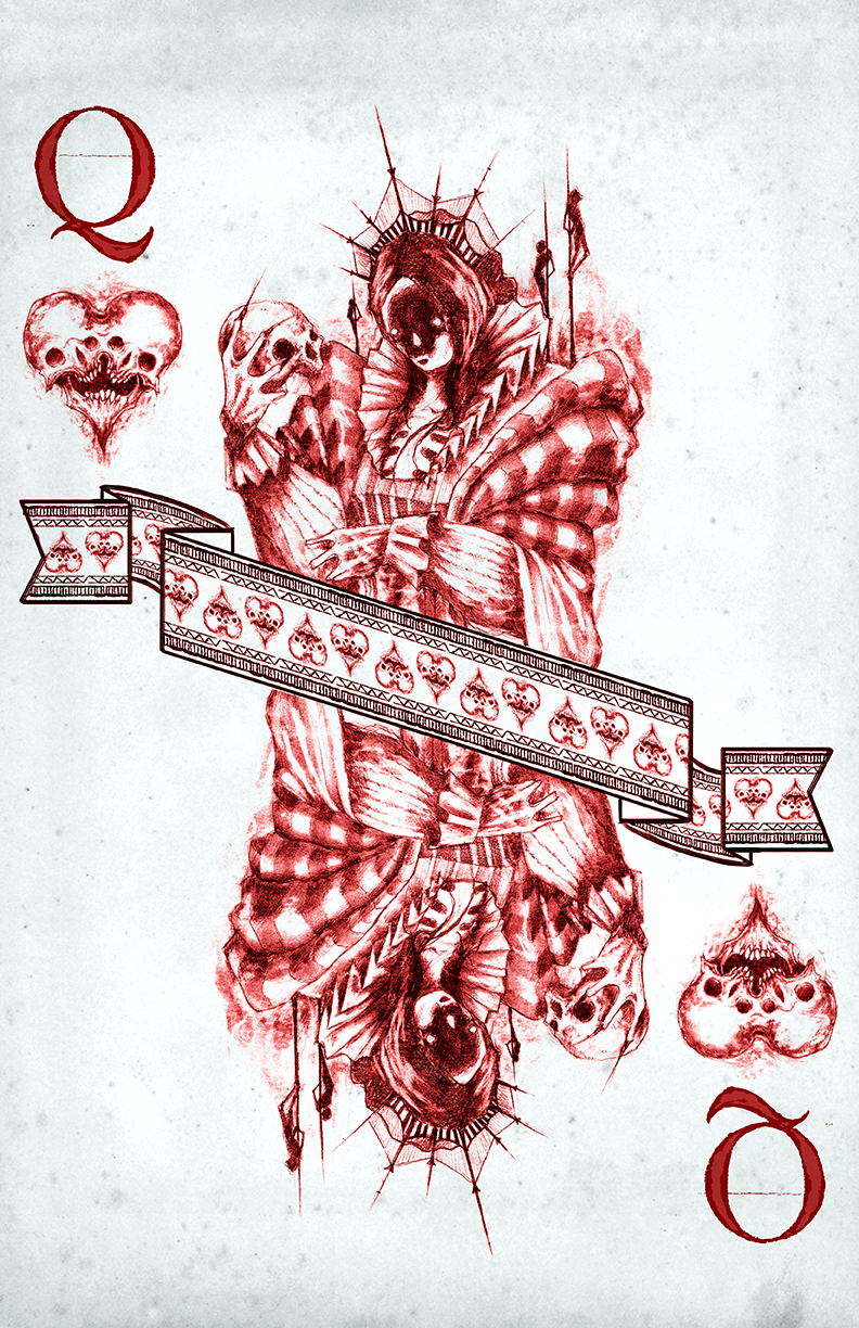 any means necessary shawn coss mors vincit omnia playing deck cards queen