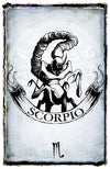 any means necessary zodiac sign poster print scorpio