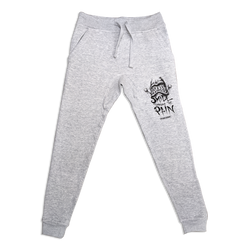 any means necessary shawn coss smile thru the pain grey sweatpants joggers front