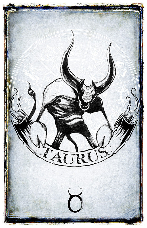 any means necessary zodiac sign poster print taurus