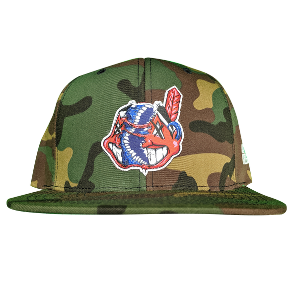 any means necessary the land cleveland indians snapback hat camo