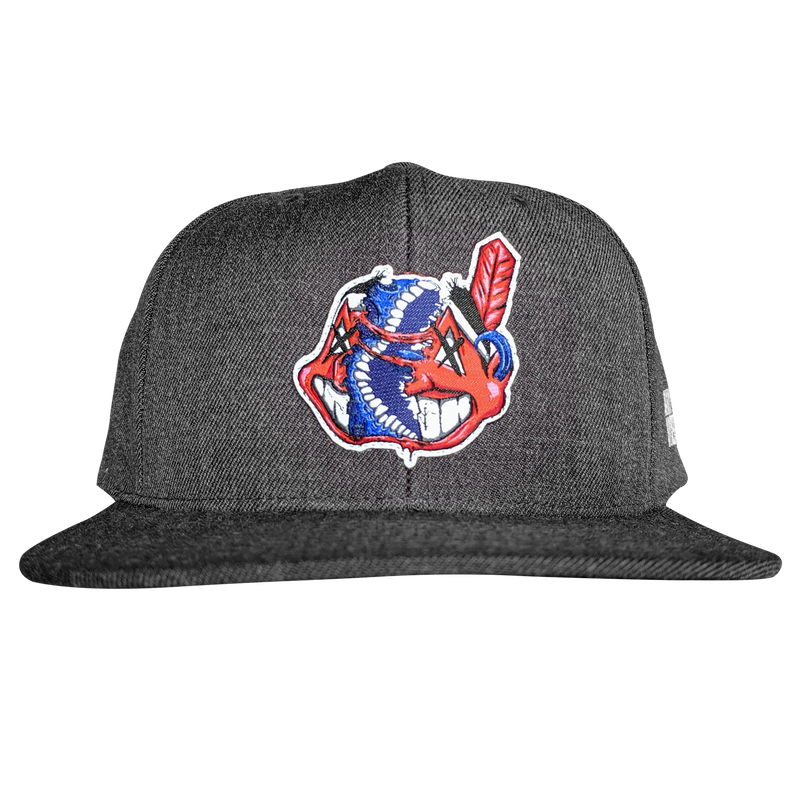 any means necessary the land cleveland indians snapback hat charcoal