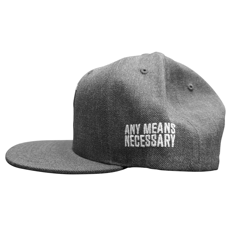 any means necessary the land cleveland indians snapback hat charcoal side