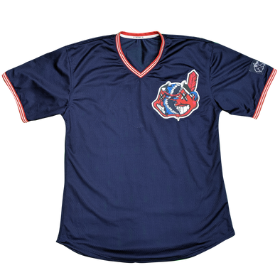 any means necessary the land cleveland indians baseball jersey front