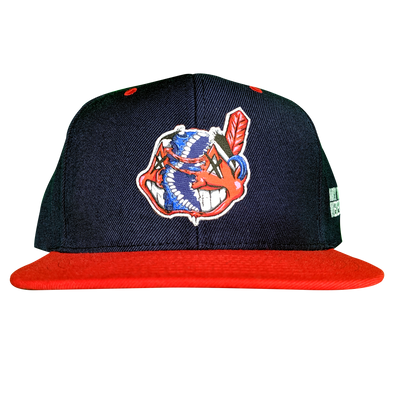 any means necessary the land cleveland indians snapback hat navy red