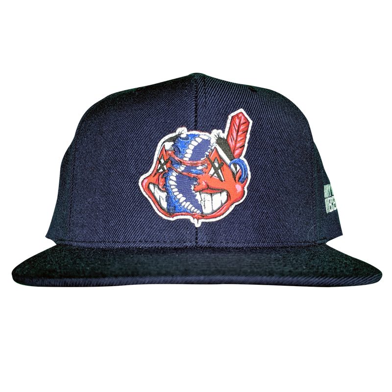 any means necessary the land cleveland indians snapback hat navy