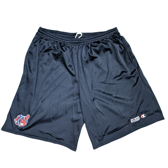 any means necessary the land cleveland indians mesh champion shorts navy