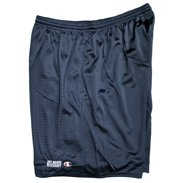 any means necessary the land cleveland indians mesh champion shorts navy side