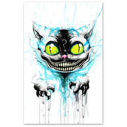 any means necessary were all mad here cheshire cat poster print