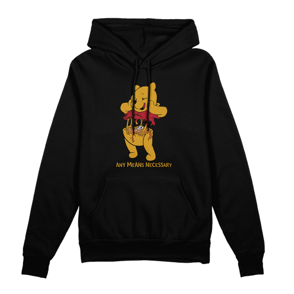 any means necessary shawn coss story time terrors winnie the pooh winnie consume pullover hoodie black