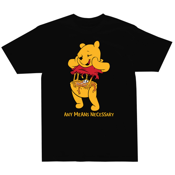 any means necessary shawn coss story time terrors winnie the pooh winnie consume t shirt black