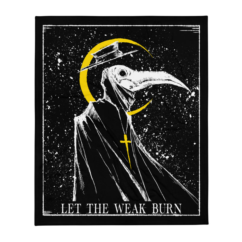 any means necessary shawn coss let the weak burn plague doctor throw blanket