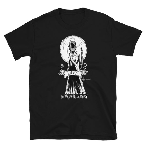 any means necessary shawn coss 7 sins envy t shirt black
