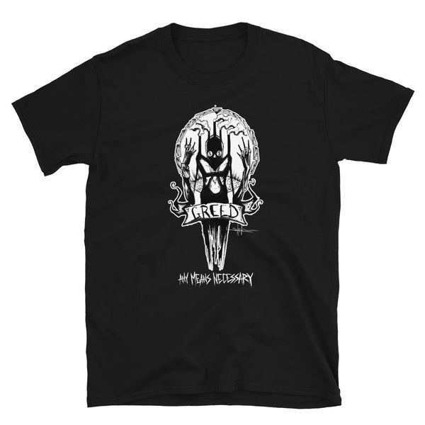 any means necessary shawn coss 7 sins greed t shirt black