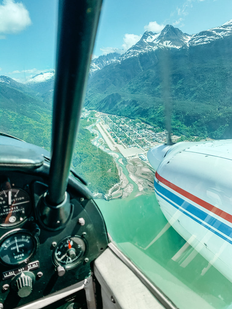Flying to Skagway for the Day by Resolute Boutique
