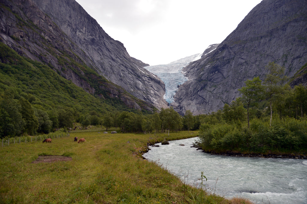 Briksdal Glacier in Olden, Norway.  Cruising up the coast of Norway part 1 for Resolute Boutique