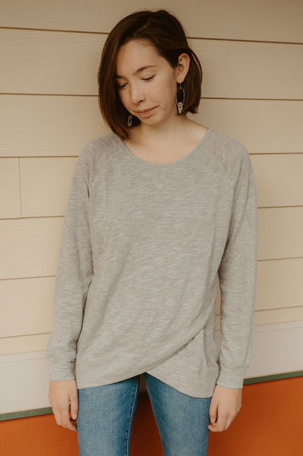 Acre Long Sleeve in Light Gray