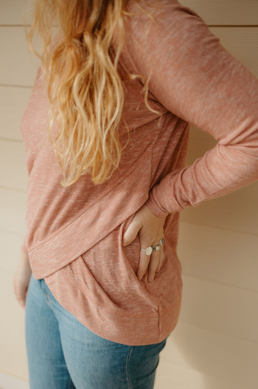 Acre Long Sleeve in Marled Rose