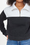 1/4 Zip Blocked Pullover