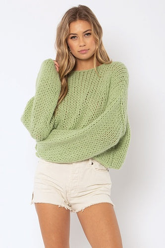 Desert Skies Sweater in Light Agave