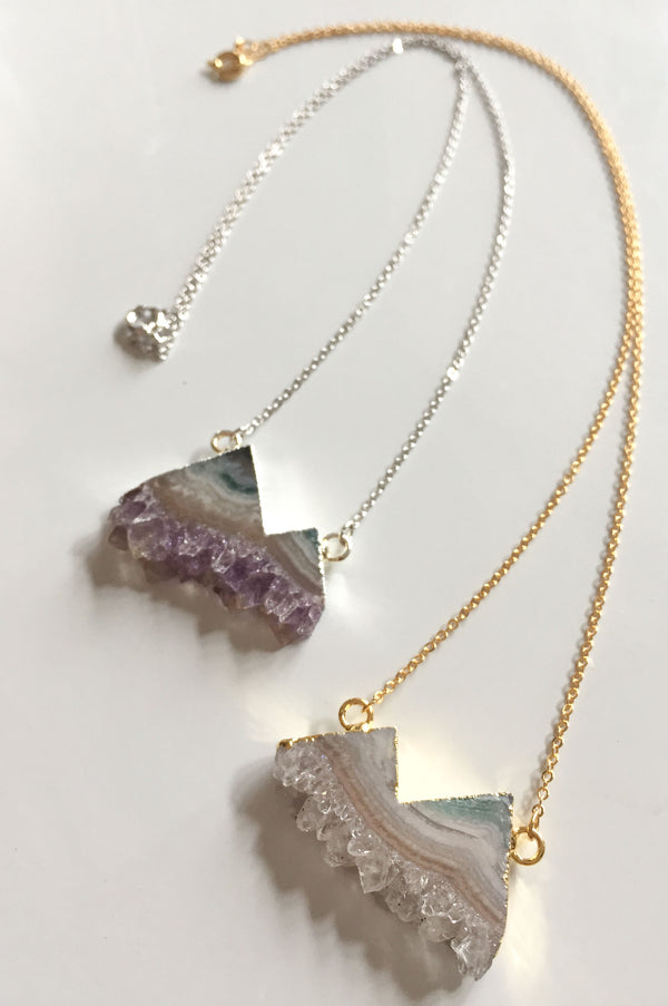 Mountain Slice Necklace