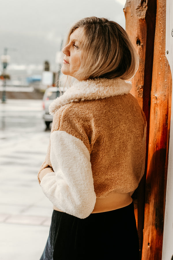 Mix Faux Fur Bomber