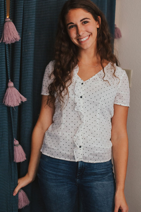 Verona Polka Dot Top