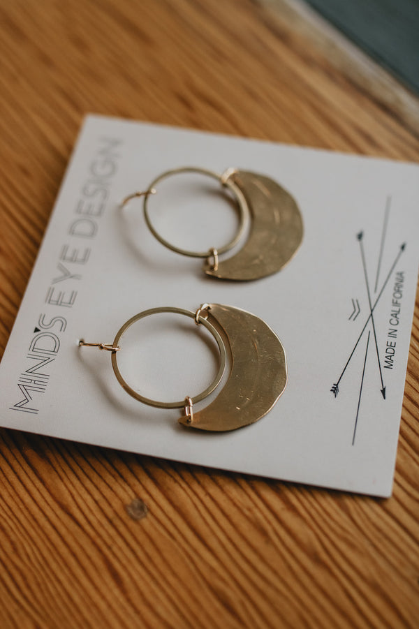 Crescent Gold Earrings