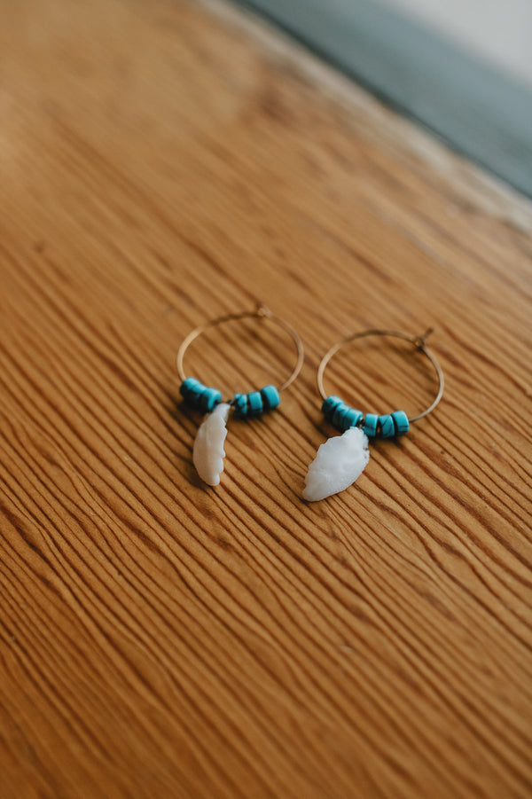 Indian Feather Hoops