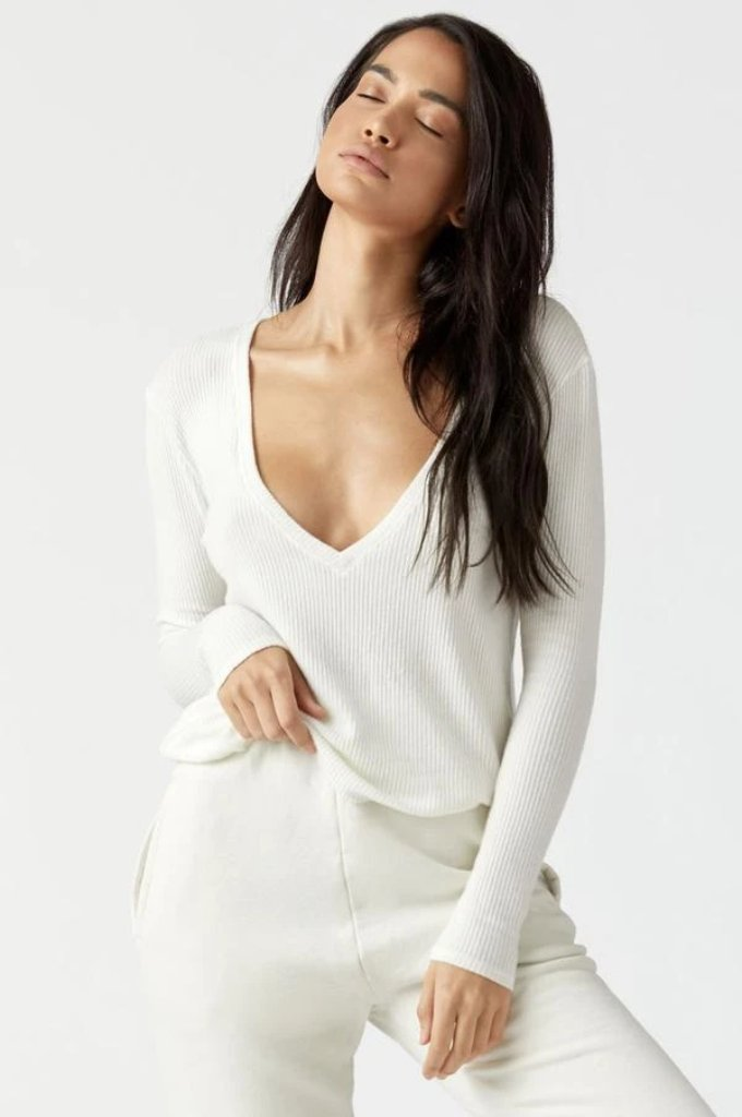 Deep V Long Sleeve
